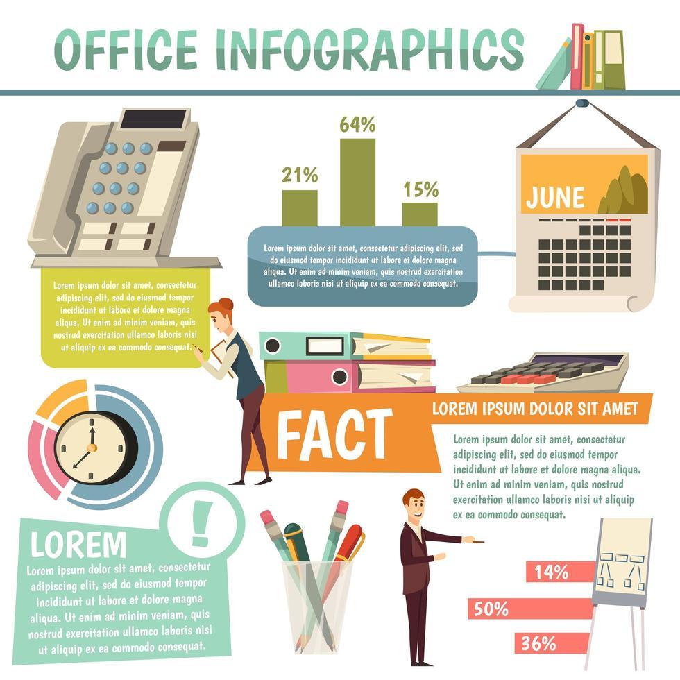 infographie orthogonale de bureau vecteur