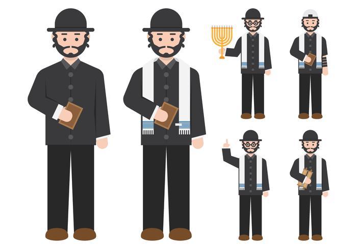 Rabbi Figure Character vecteur