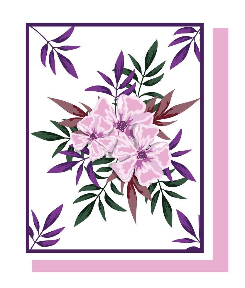 arrangements floraux pour carte de voeux vecteur