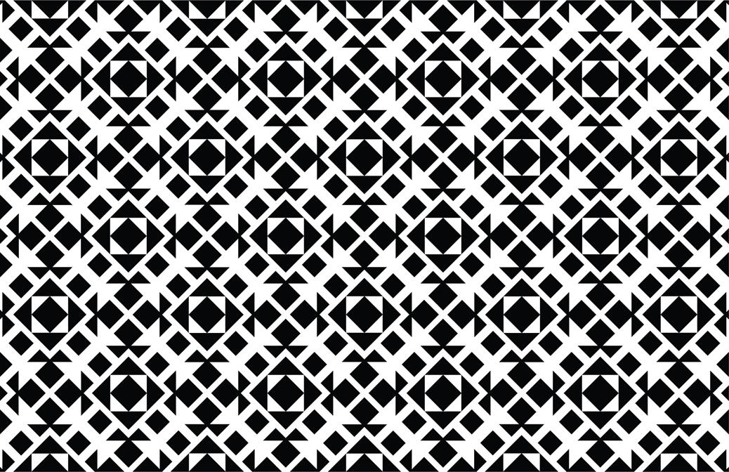 modèle sans couture géométrique noir et blanc vecteur