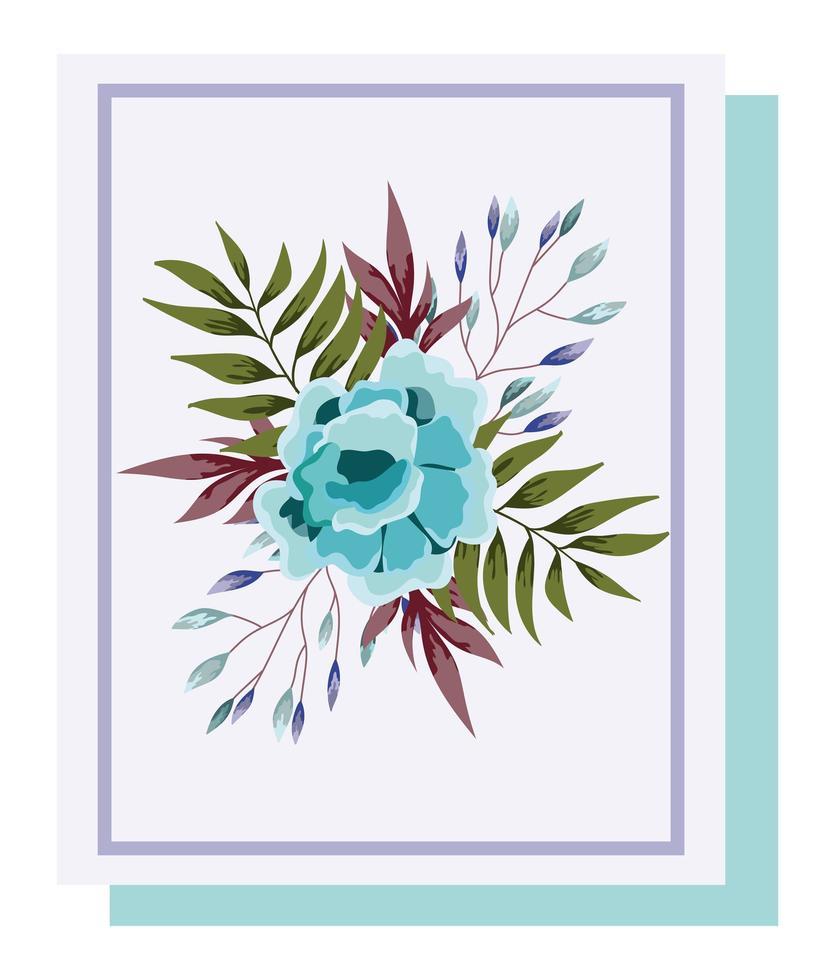 arrangement floral pour carte de voeux vecteur