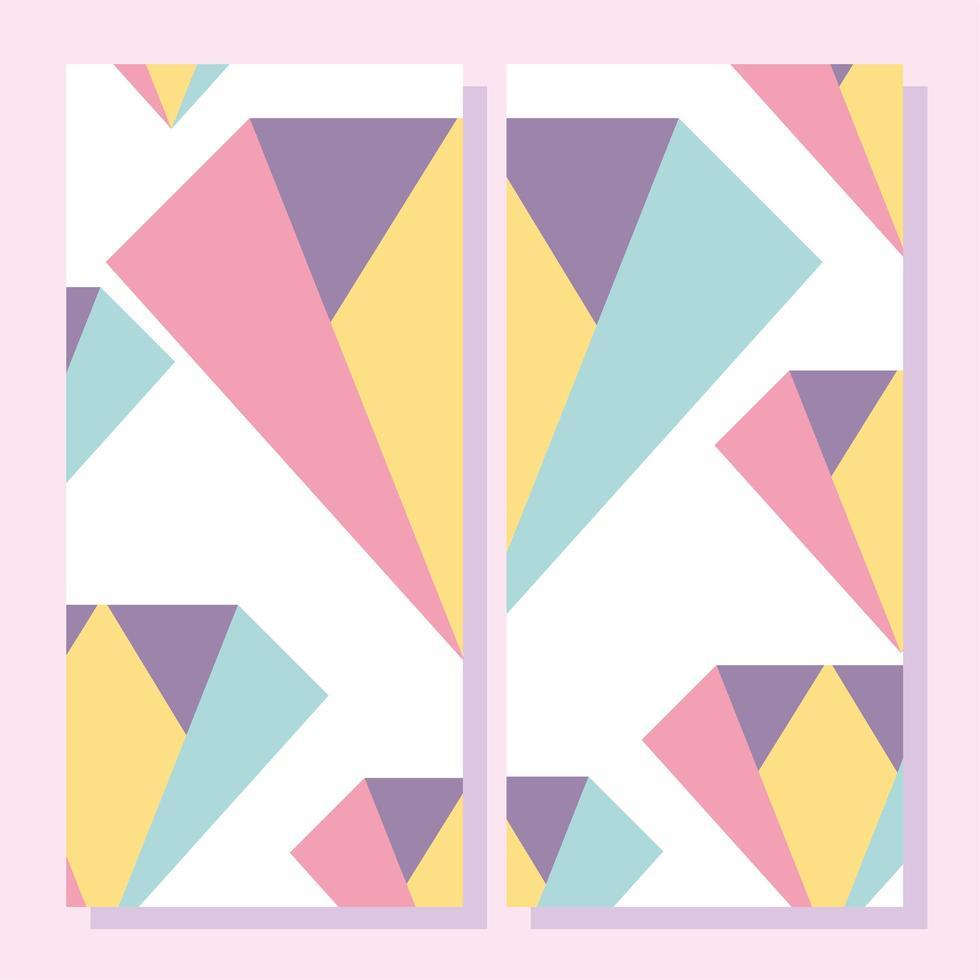 formes abstraites. Plaque de style géométrique memphis des années 80 vecteur
