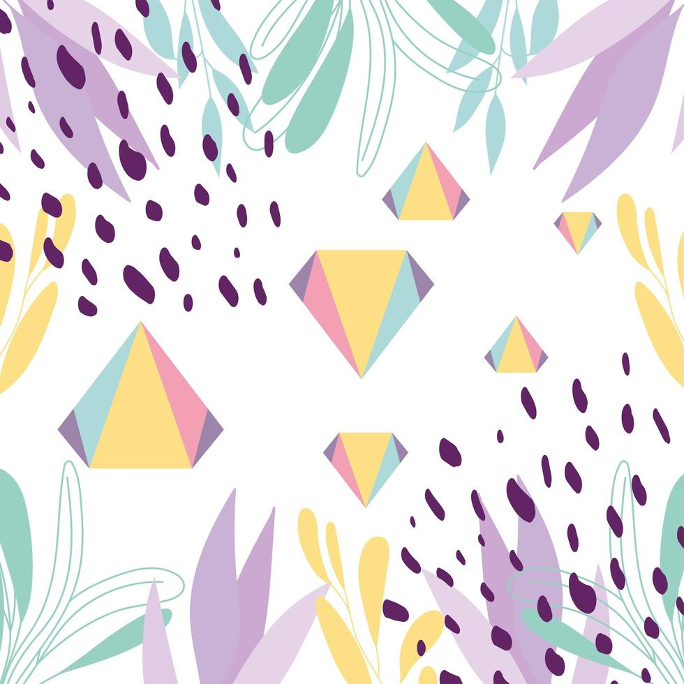 fond abstrait de style géométrique de memphis vecteur