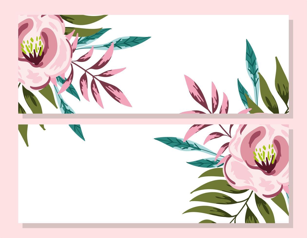 carte d'invitation décorative florale d'ornement de mariage vecteur