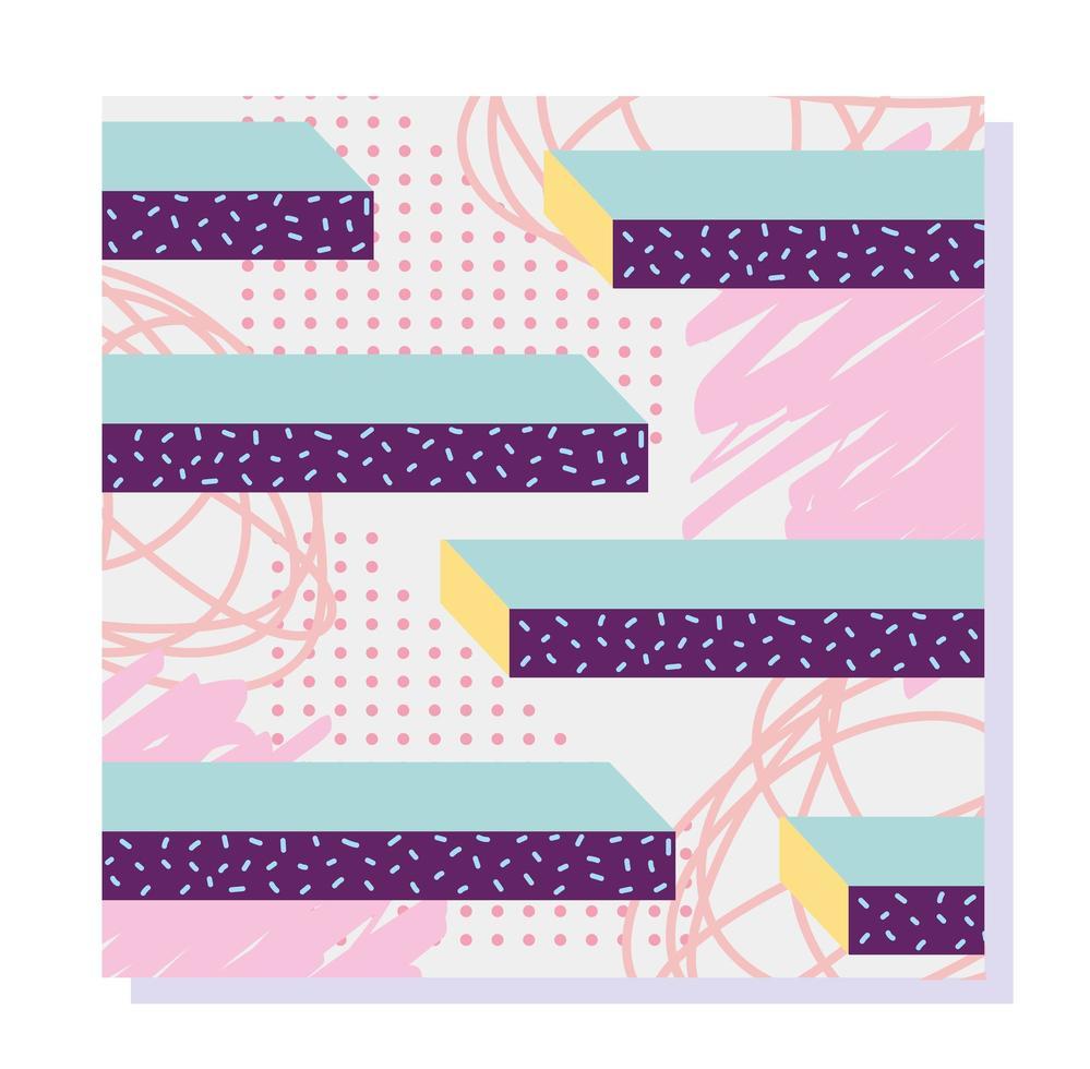 composition minimale moderne de memphis. fond abstrait de formes géométriques vecteur