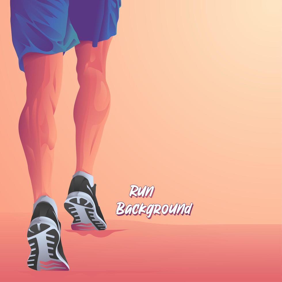 jambes d & # 39; un fond de coureur de marathon vecteur