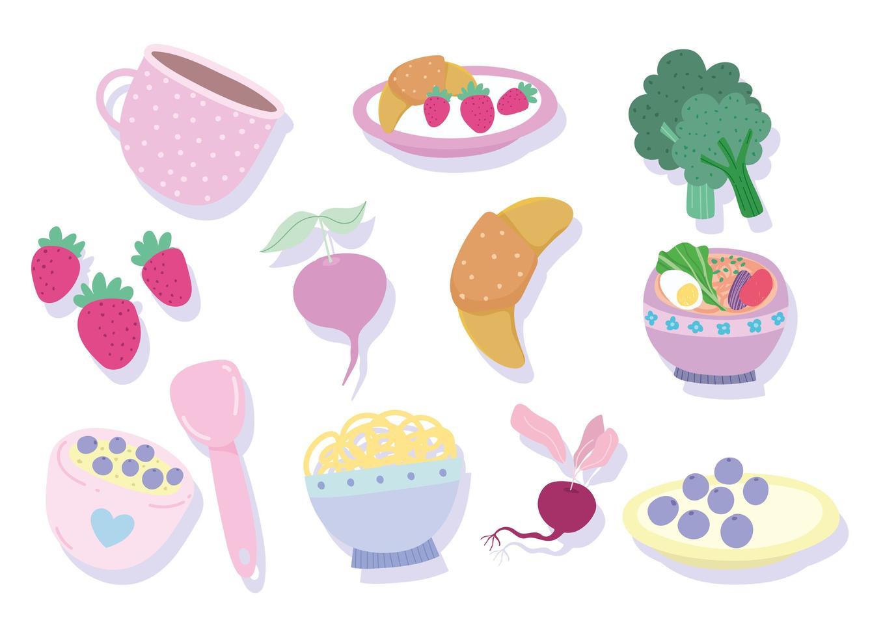 produits d'ingrédients de cuisine vecteur