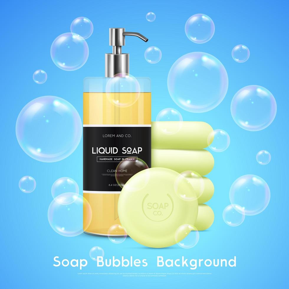 fond de bulles de savon vecteur