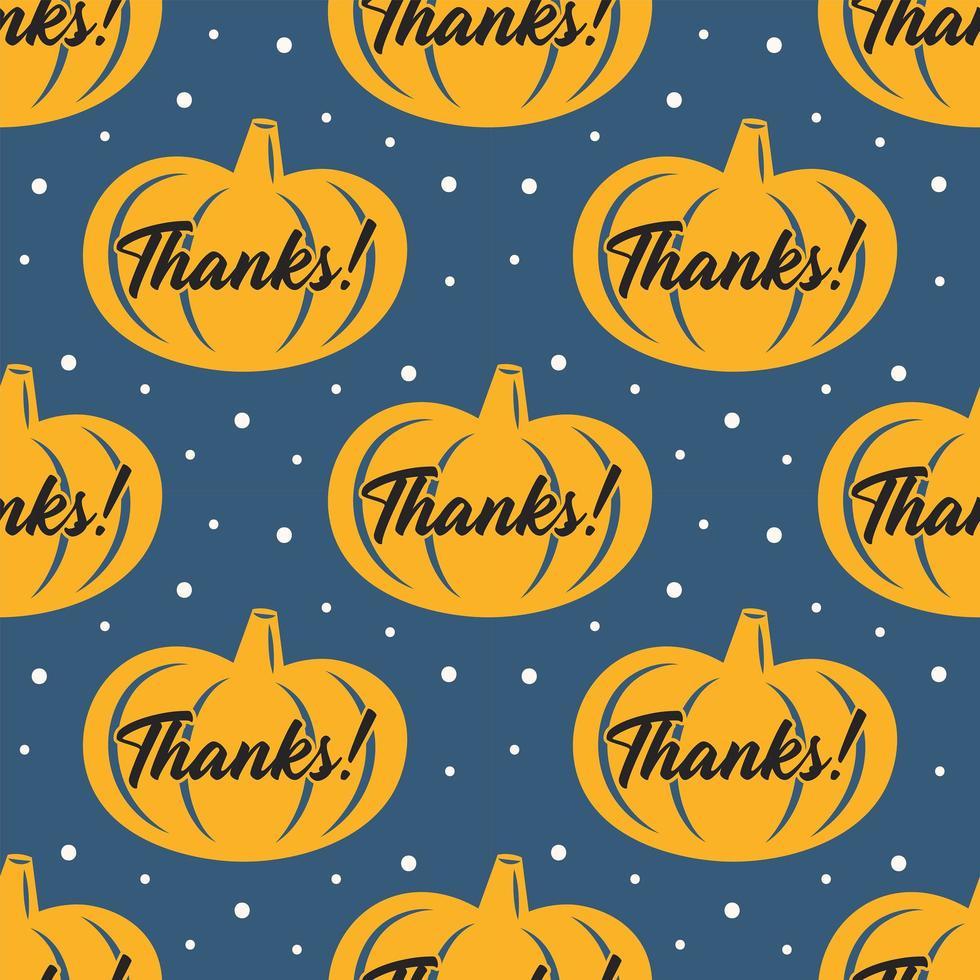 modèle sans couture de citrouille jaune joyeux thanksgiving day vecteur