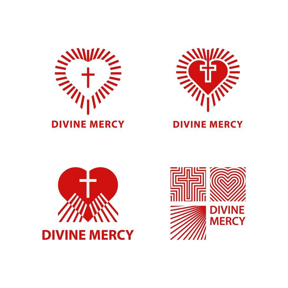 ensemble de logo de miséricorde divine vecteur