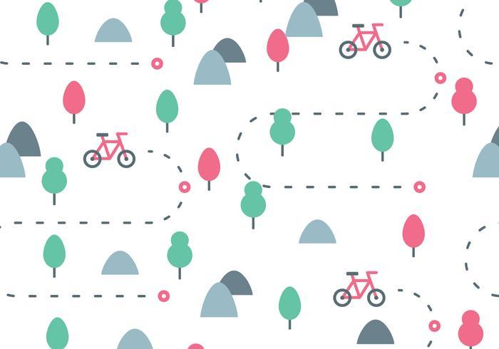 Motif Bike Trail vecteur