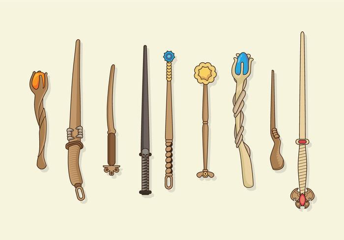 Magic Stick Collection Vector