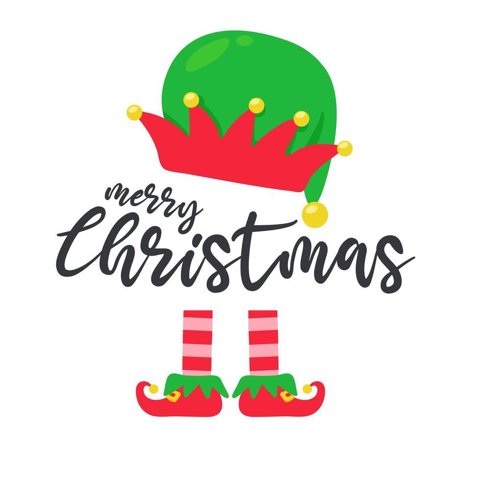 la conception des jambes et du chapeau d'elfe pour Noël vecteur