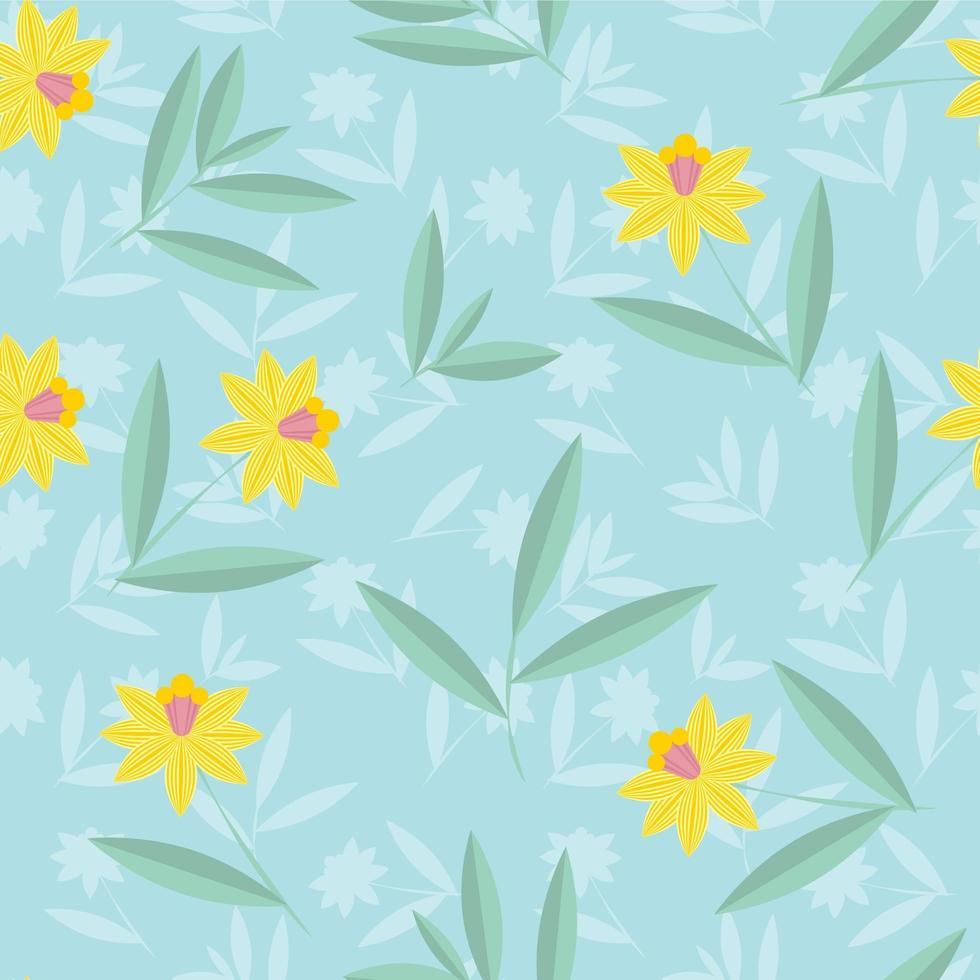 motif de fleurs de jonquilles vecteur
