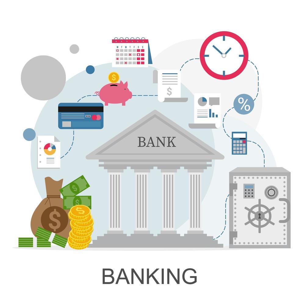 infographie de concept bancaire vecteur
