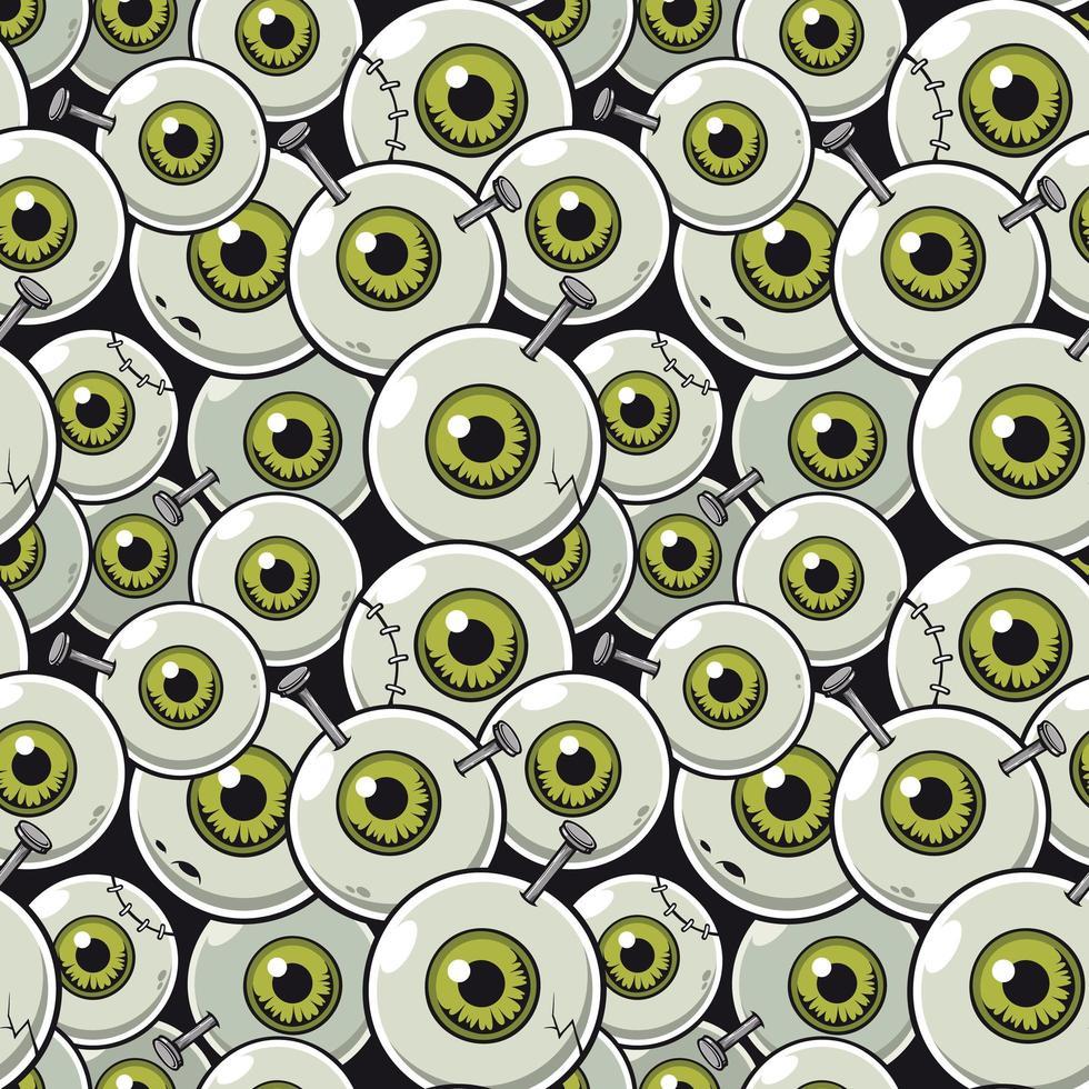 motif zombie globe oculaire vecteur