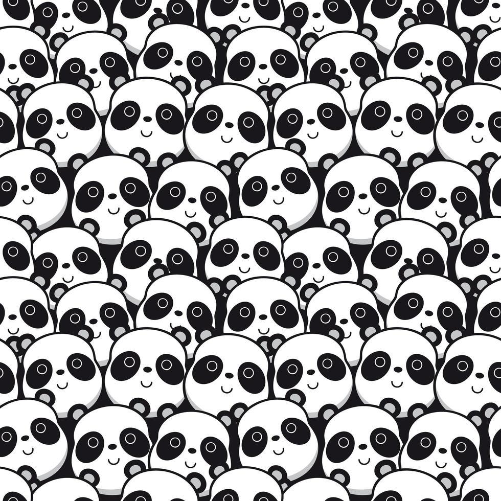 motif de visage de panda vecteur