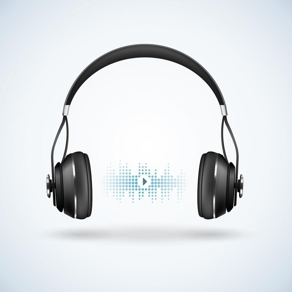 écouteurs modernes réalistes vecteur