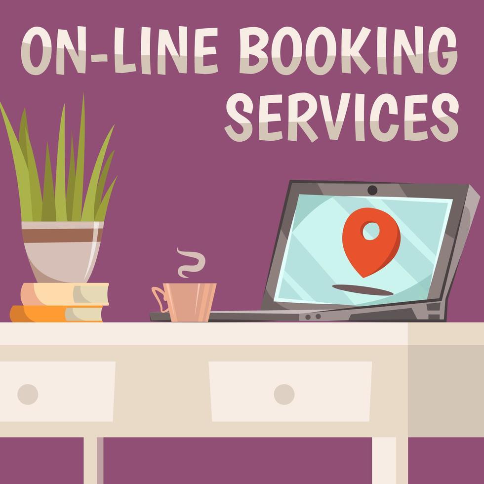services de réservation en ligne vecteur
