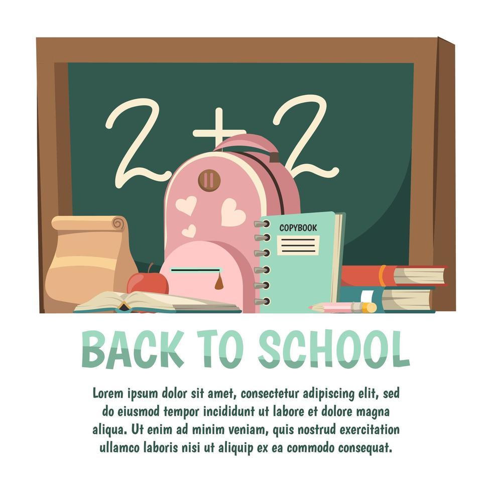 retour au modèle de bannière scolaire vecteur