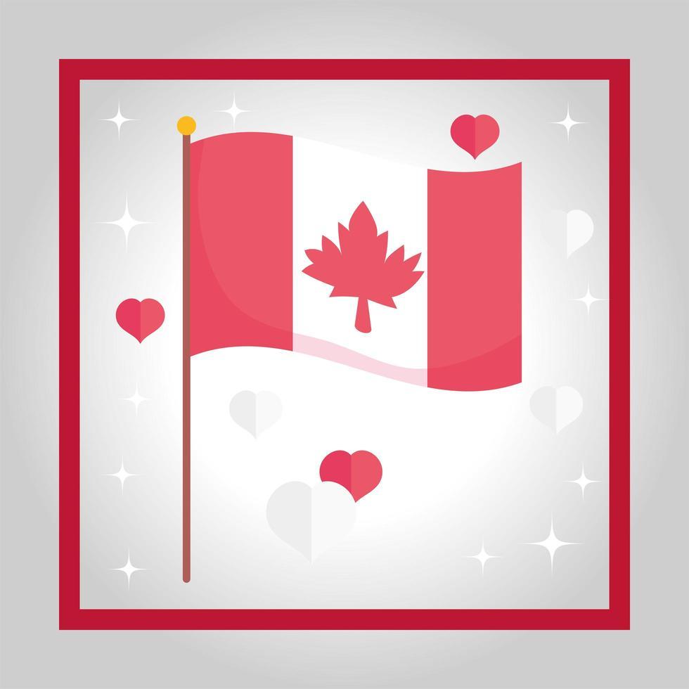 drapeau canadien. joyeux jour du Canada vecteur
