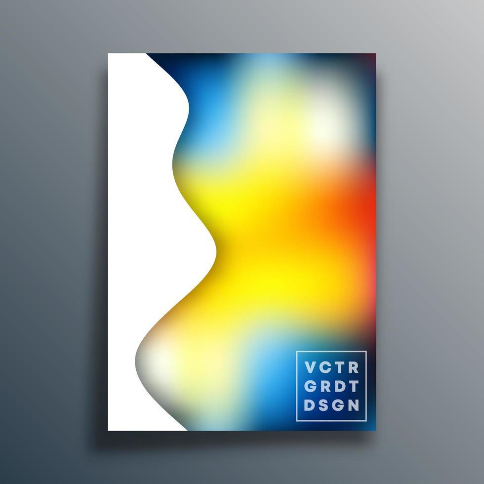 design dégradé coloré ondulé pour flyer, affiche, brochure vecteur