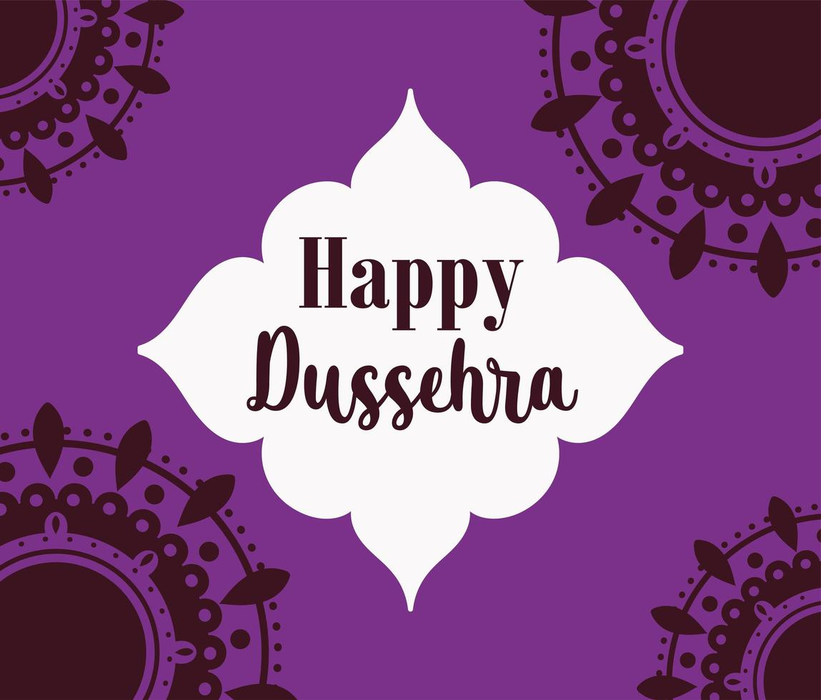 affiche du festival dussehra heureux de linde vecteur