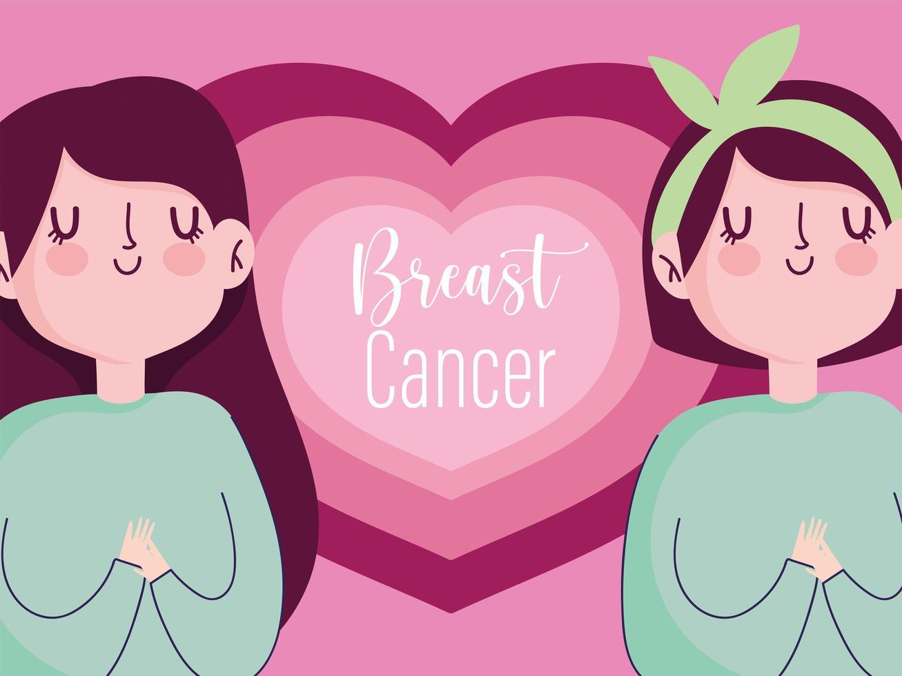 campagne de dessin animé pour la santé et la vie des femmes vecteur
