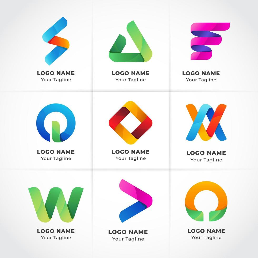 logo d'entreprise moderne géométrique vecteur