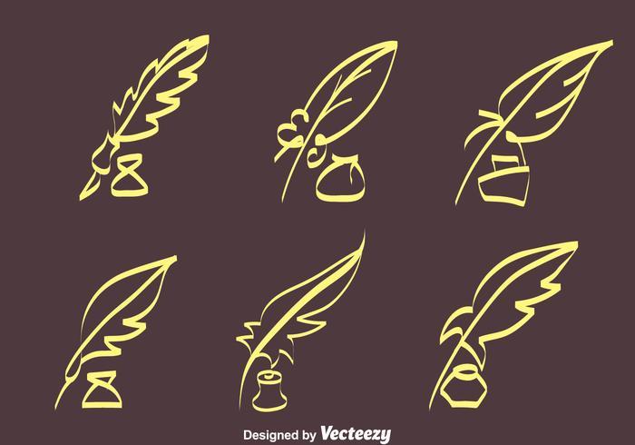 Croquis Inkwell Vecteurs vecteur