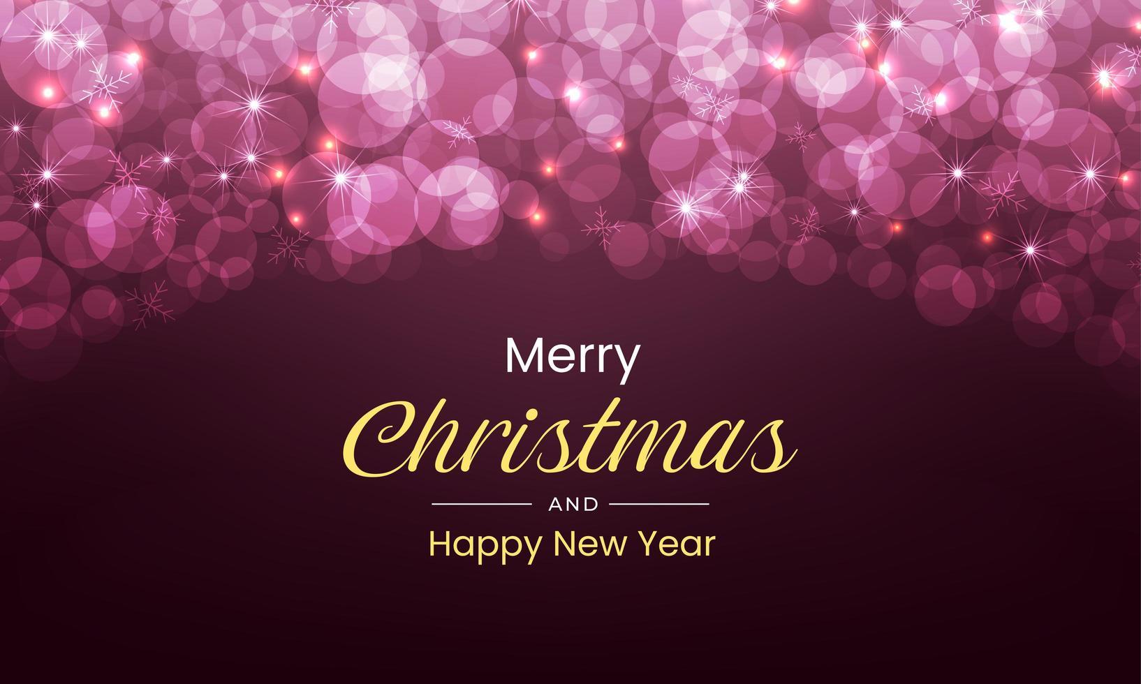 joyeux noël et nouvel an avec des lumières luxueuses vecteur