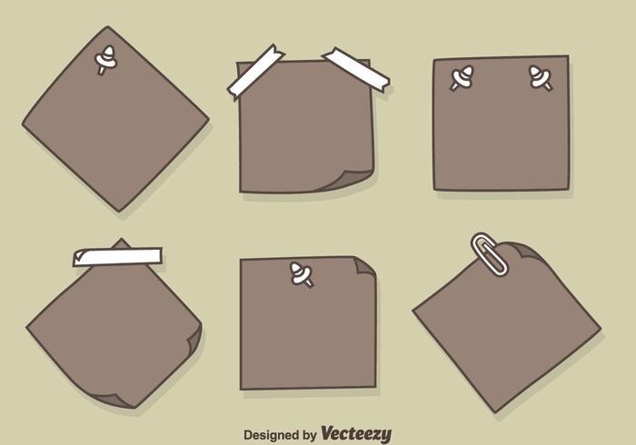 Hand Drawn Sticky Notes Vecteurs vecteur