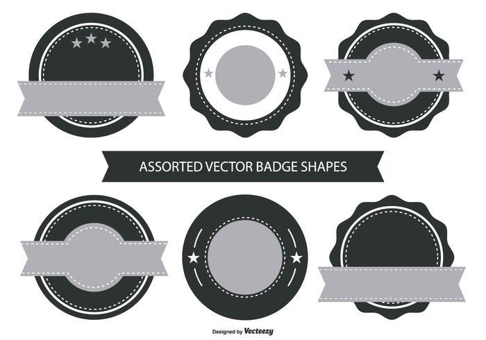 Retro Badge Shape Collection vecteur