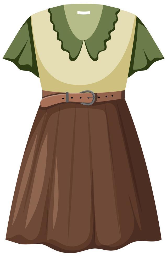 isolé belle tenue féminine vecteur