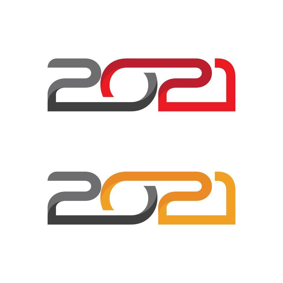 2021 pour la nouvelle année vecteur