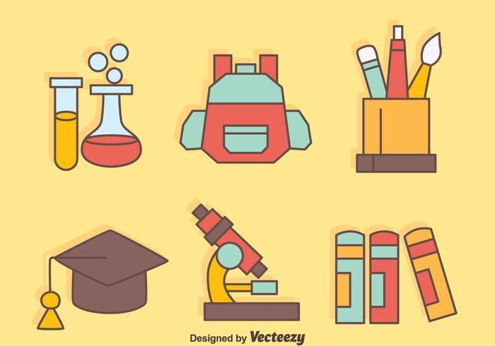 Belles équipements scolaires vecteurs vecteur