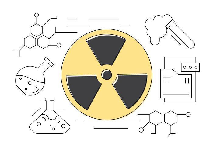 Des sciences et de la chimie fine ligne Icons vecteur