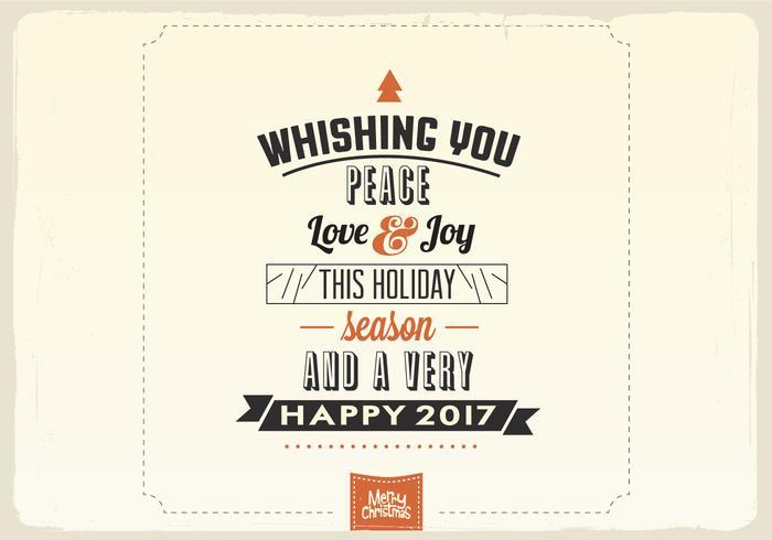 Vous souhaitant Peace, Love & Joy Vector