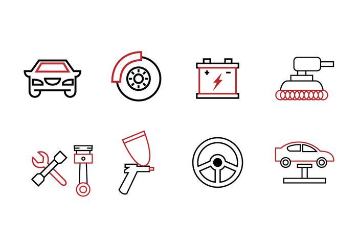 Garage Icon Set vecteur