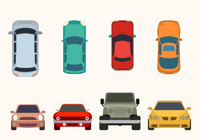 Flat Car Collection Vector