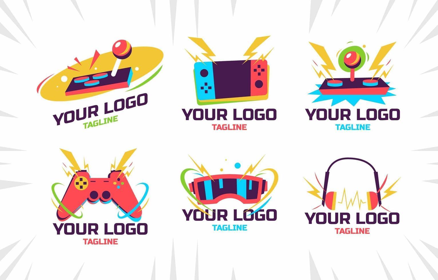 logo de console de jeu coloré vecteur