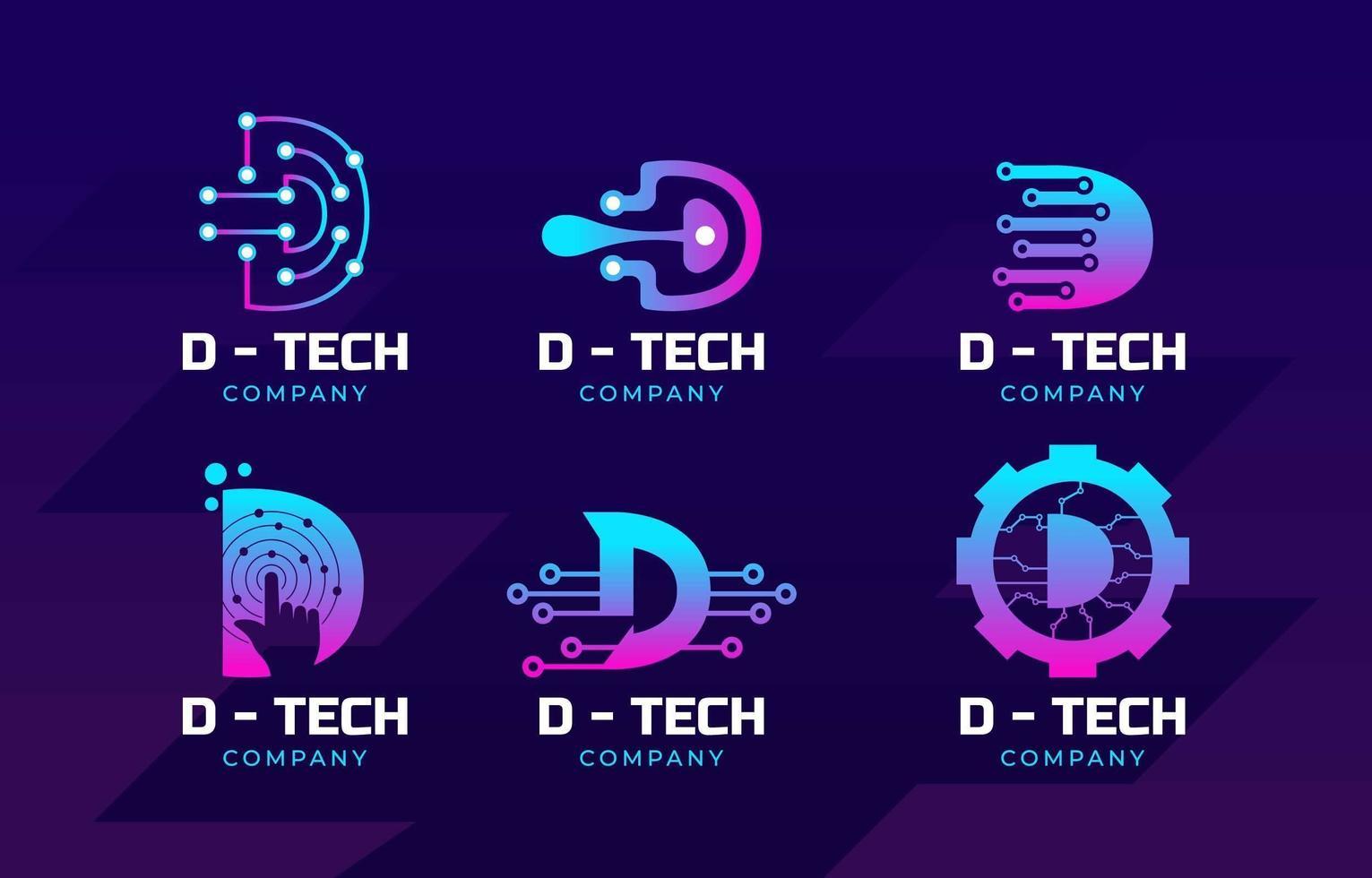 logo de technologie d'entreprise vecteur