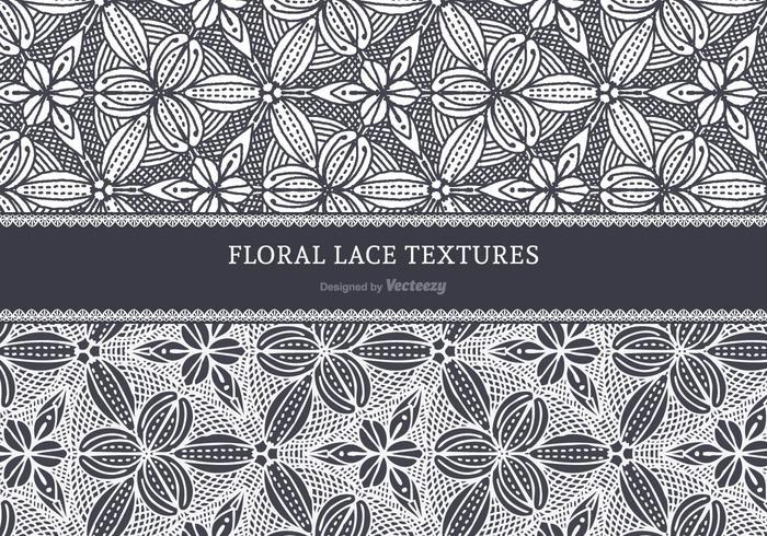Floral vecteur dentelle Textures