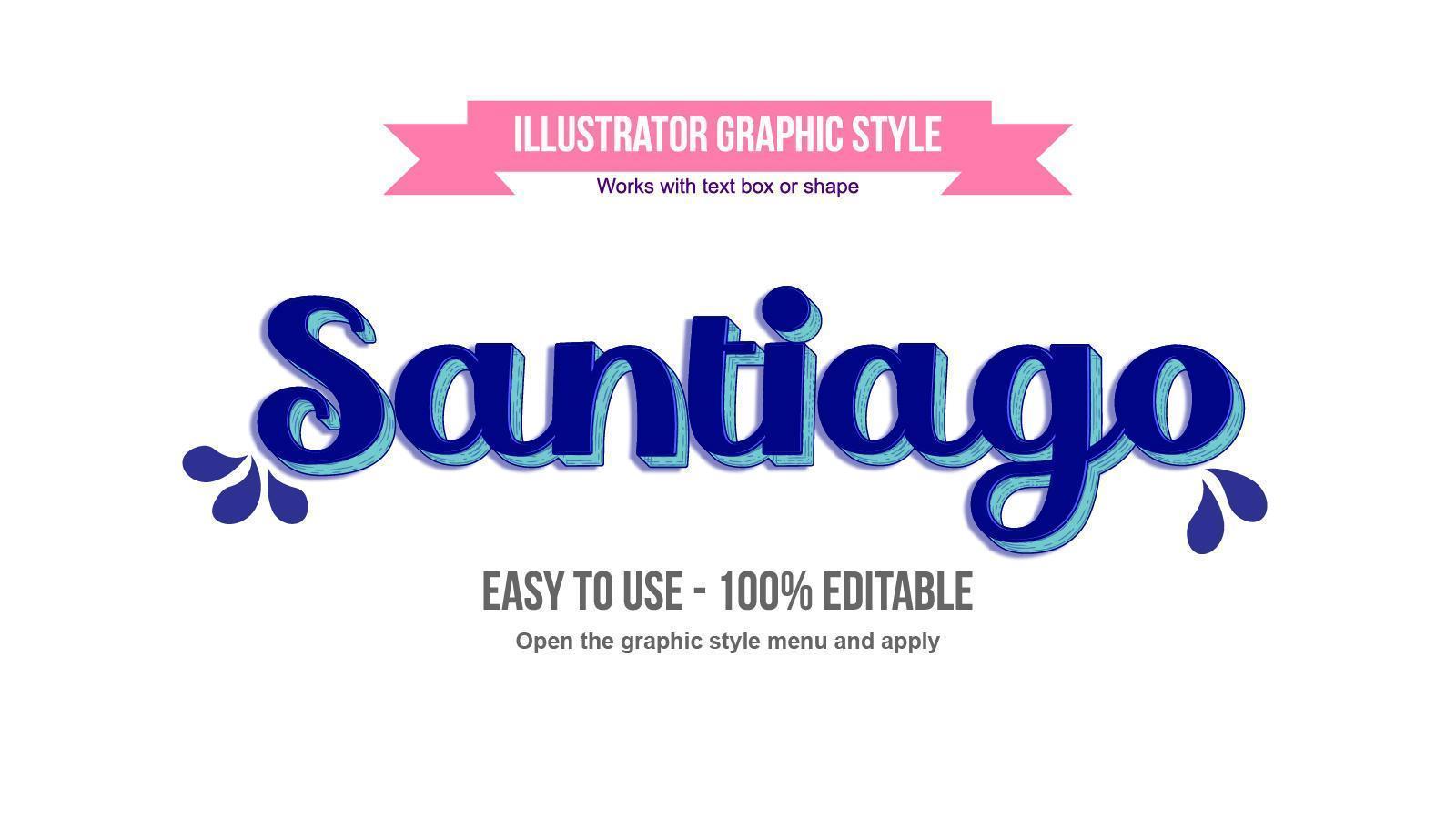 style de texte cursif vintage élégant bleu vecteur