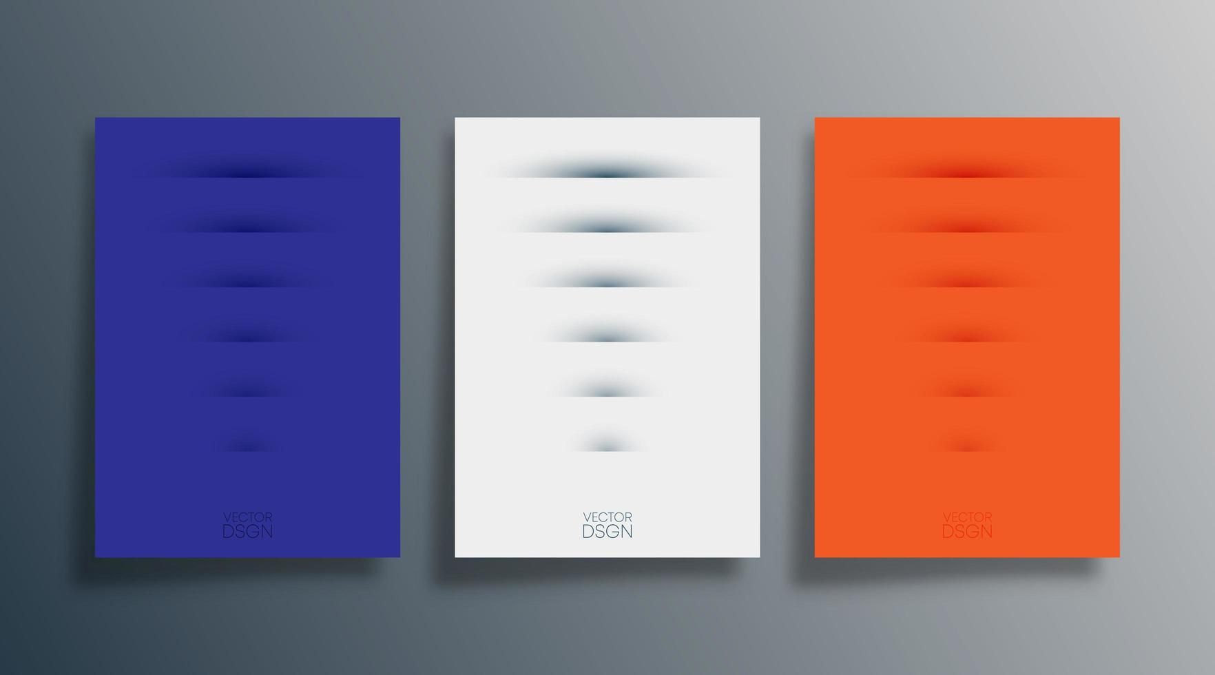 ensemble de couvertures ou dépliants de conception abstraite ombre vecteur