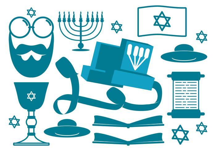 Icônes religieuses juives vecteur