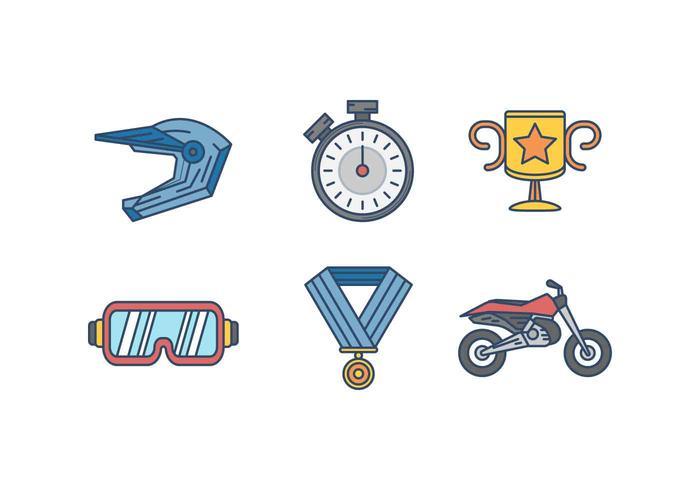 Dirt Bike vecteurs de course vecteur