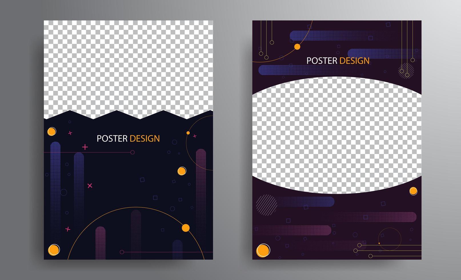 conception d'affiche avec fond géométrique vecteur