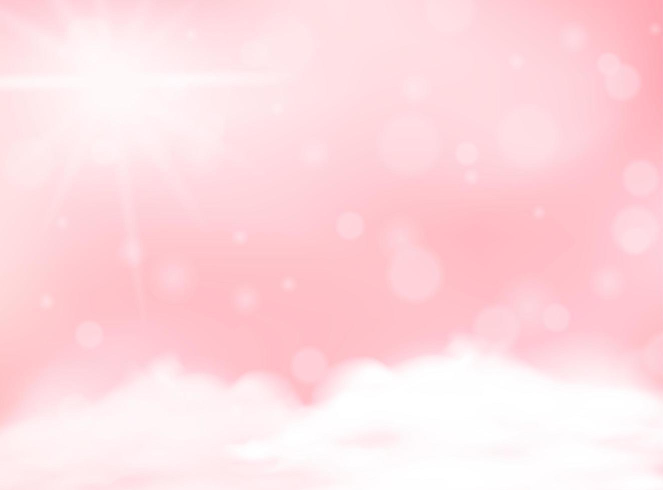 ciel flou de couleur pastel rose vecteur