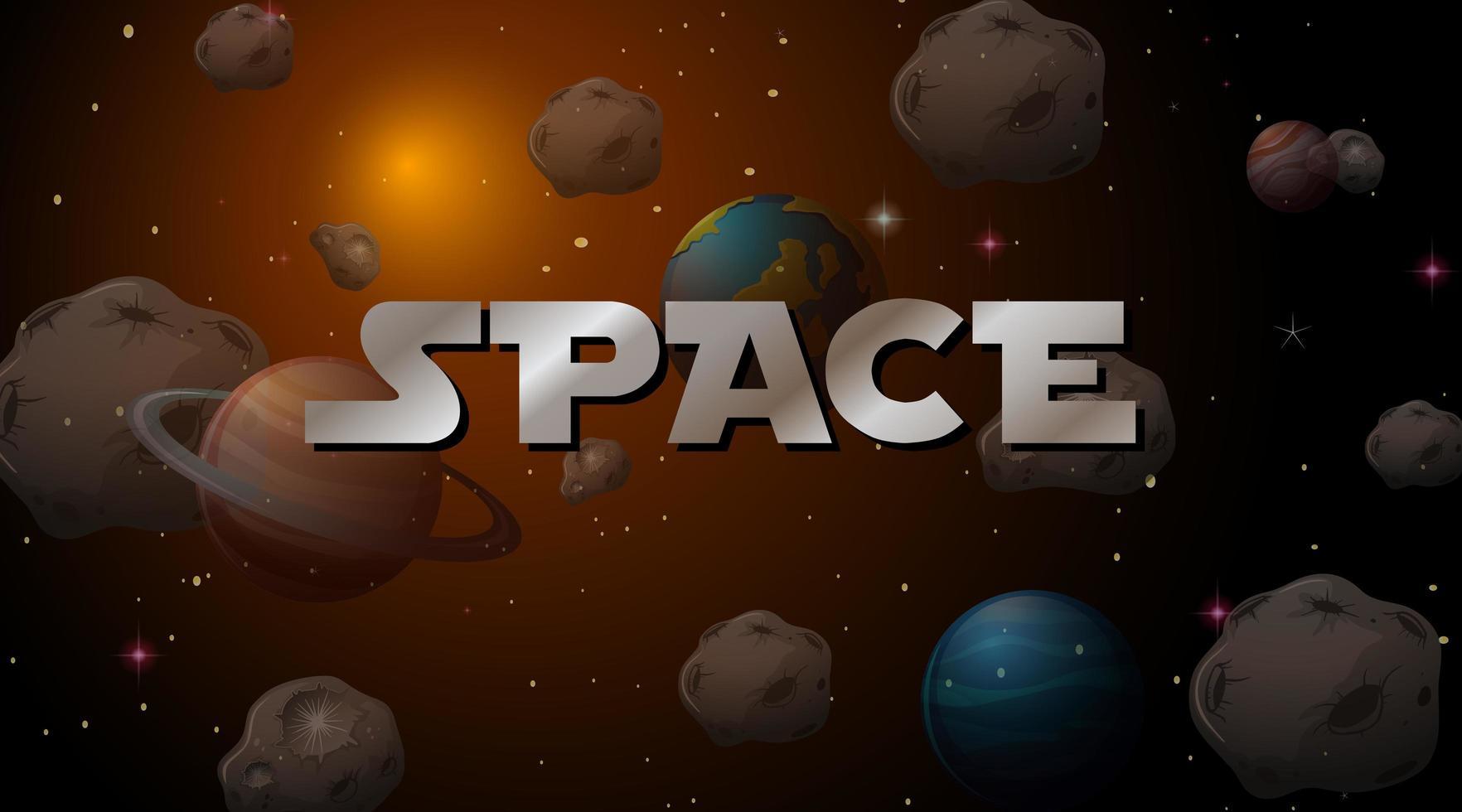 fond de scène spatiale vecteur